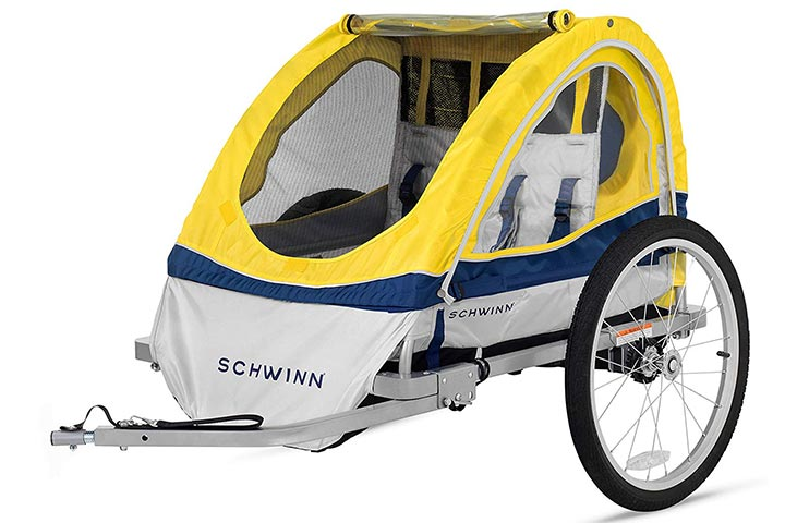 Schwinn Echo KidsChild Double Tow Behind Bicycle Trailer