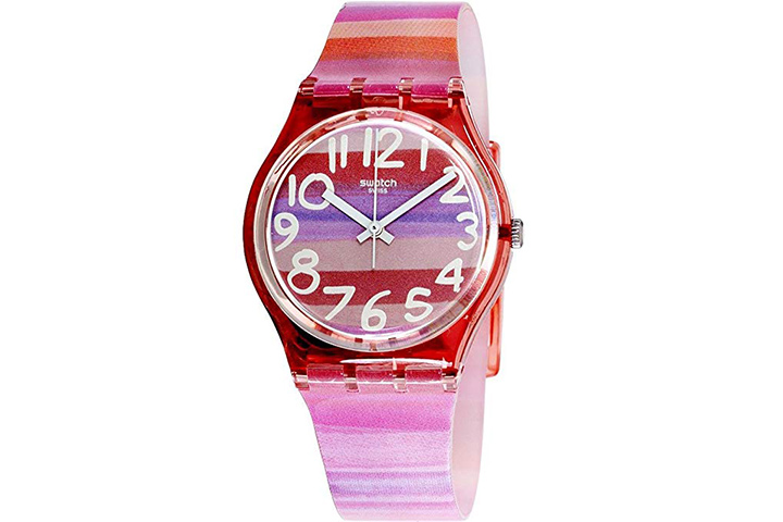 Swatch Atilbe Graphic Dial Plastic Quartz Watch