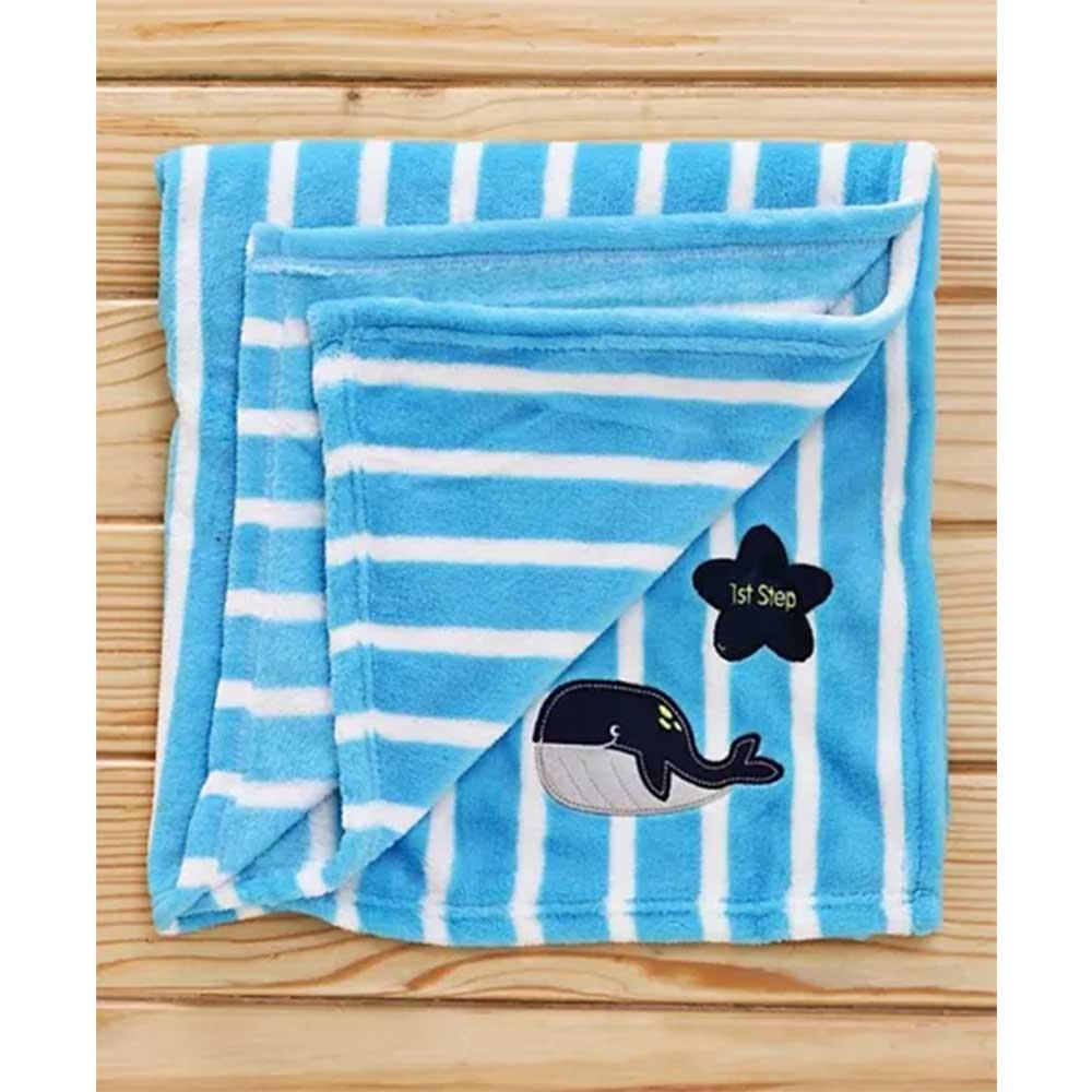 1st Step Fleece Blanket Fish Embroidered