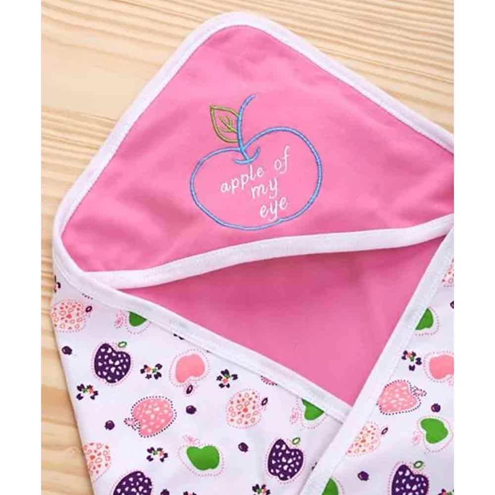 Babyhug 2 Ply Hosiery Hooded Wrapper-5