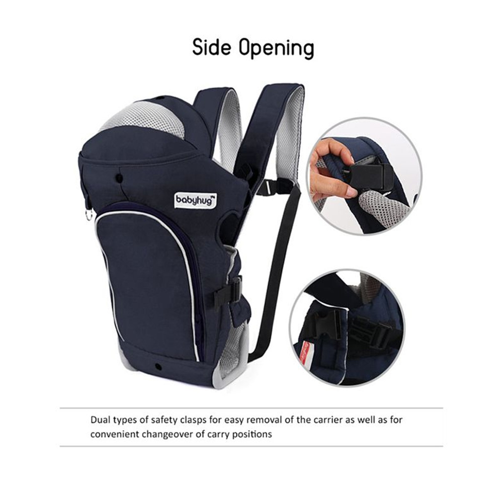 Babyhug Comfort Nest 3 Way Baby Carrier With Adjustable Infant Head Support