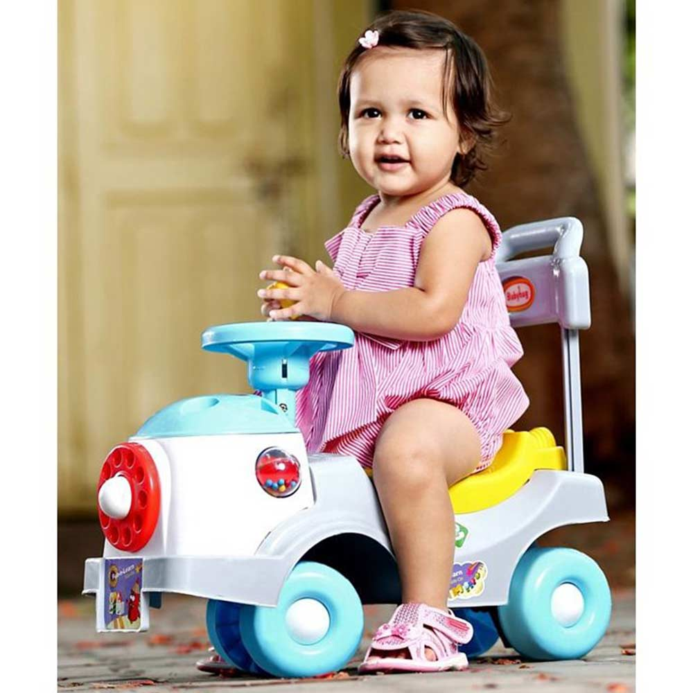 Babyhug Fun N Learn Ride-On With Storage Space & High Backrest