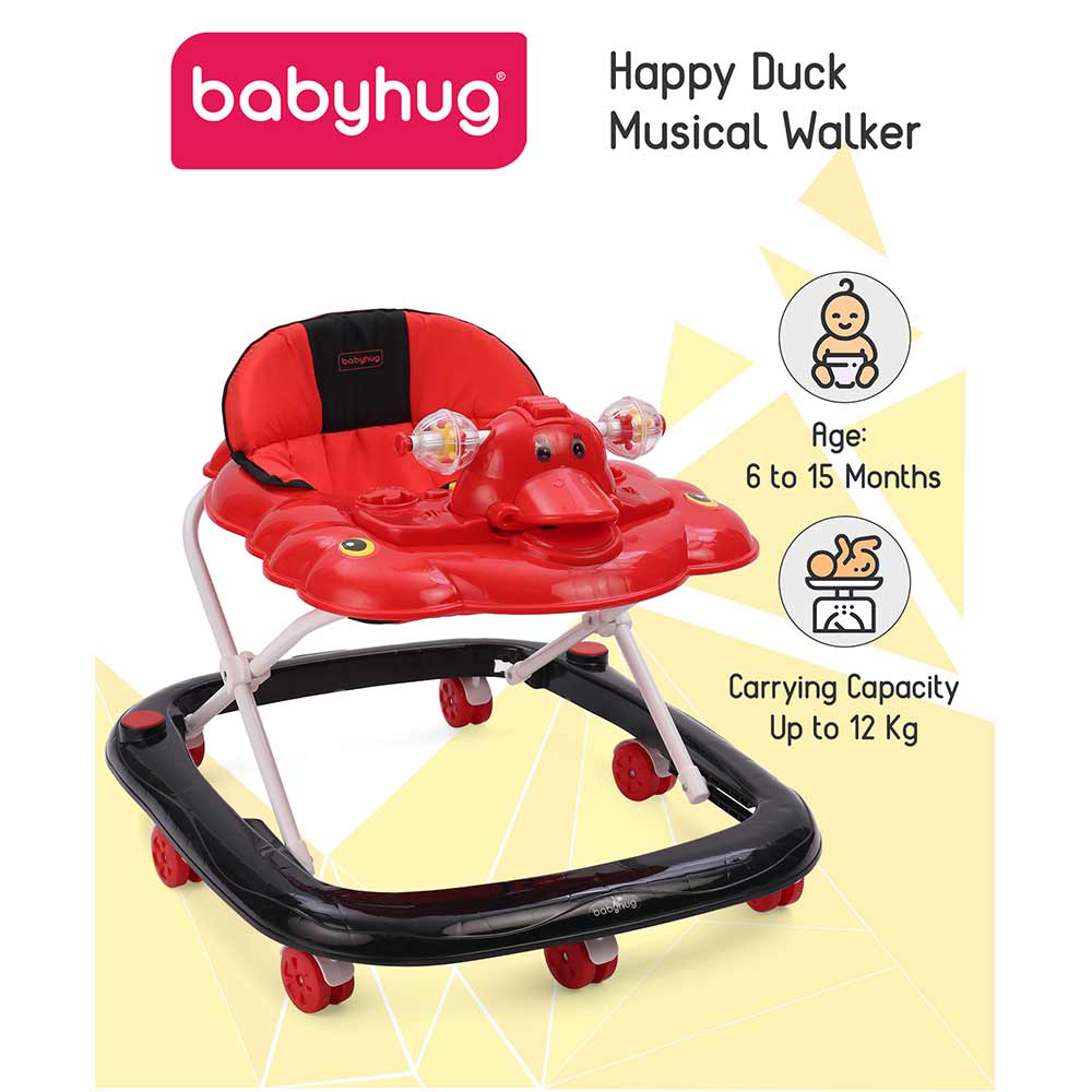 Babyhug Happy Duck Musical Walker