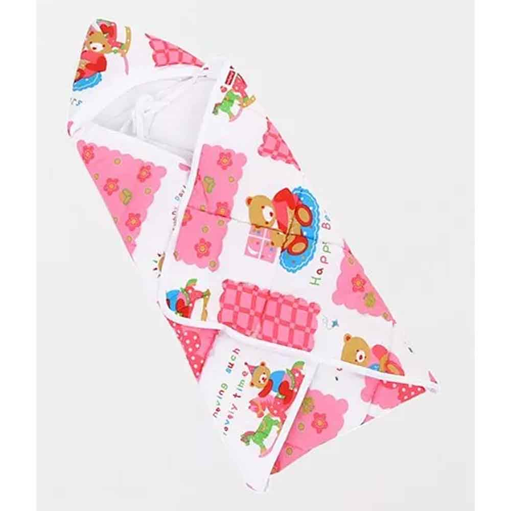Babyhug Hooded Quilted Wrapper-10