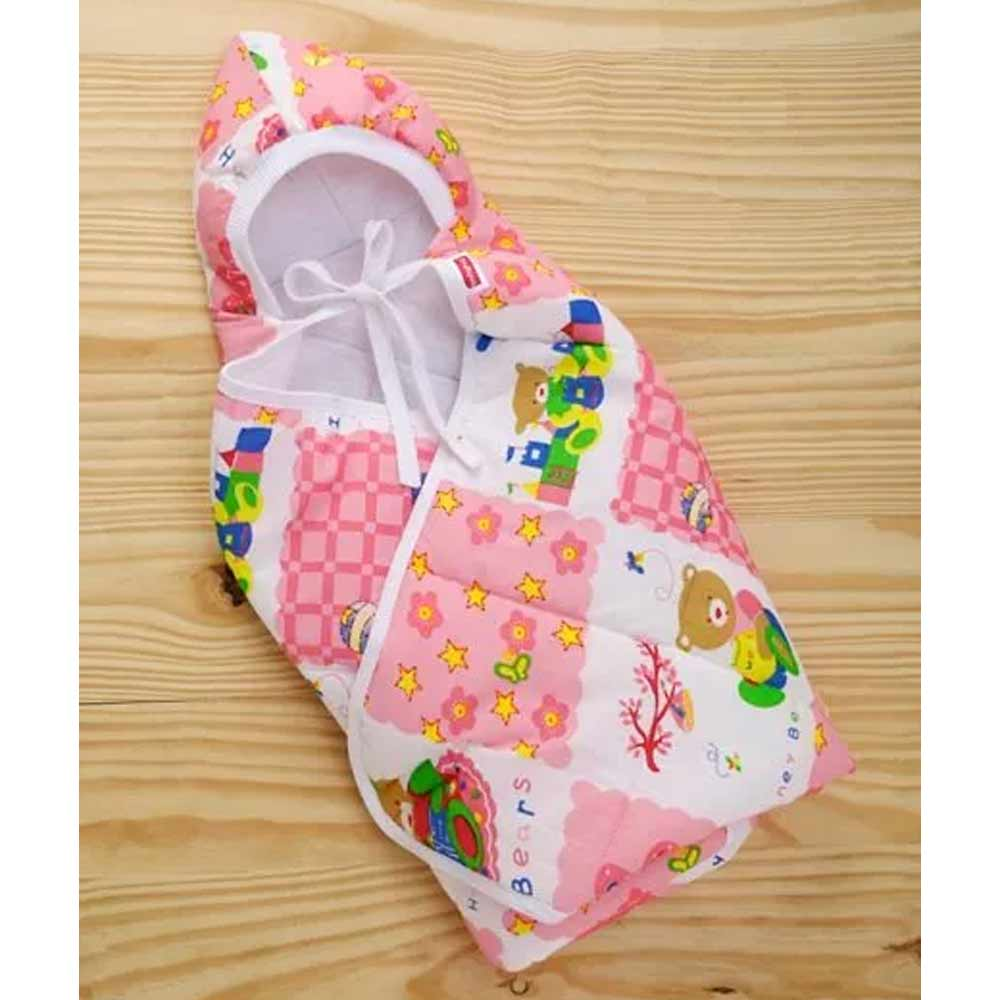 Babyhug Hooded Quilted Wrapper-1
