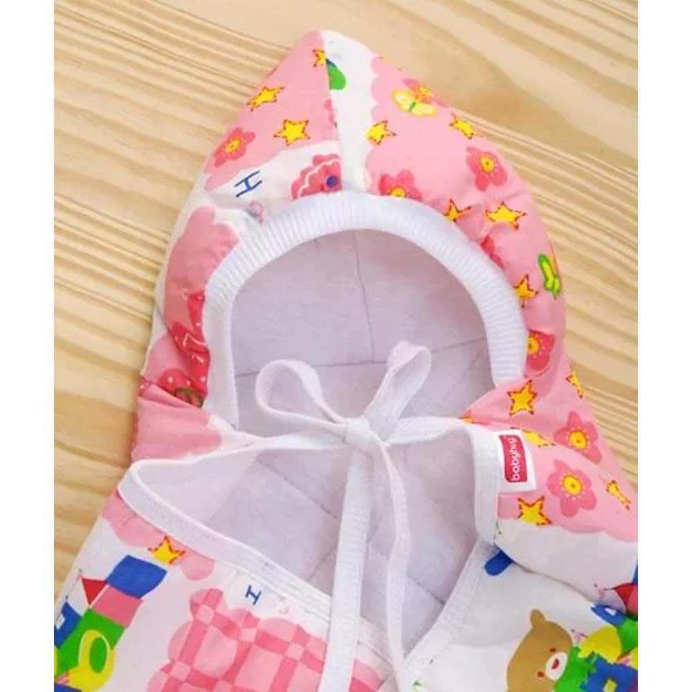 Babyhug Hooded Quilted Wrapper-5