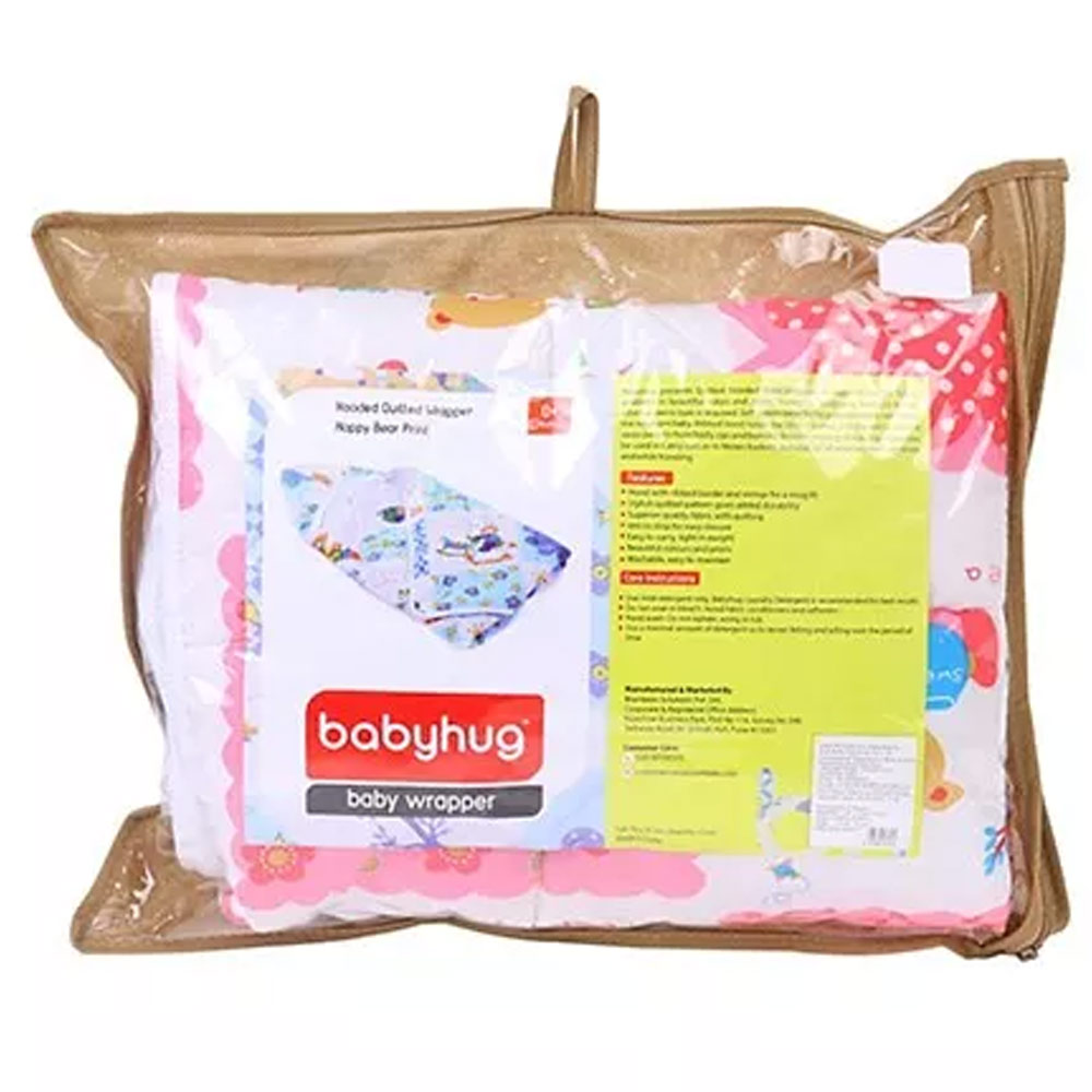 Babyhug Hooded Quilted Wrapper-8