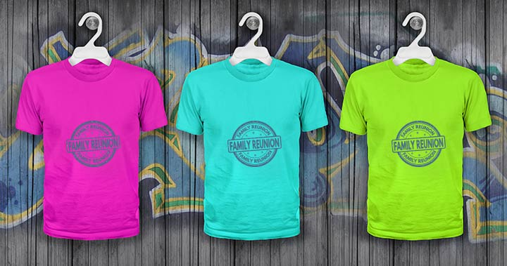 Color-coordinated t-shirts