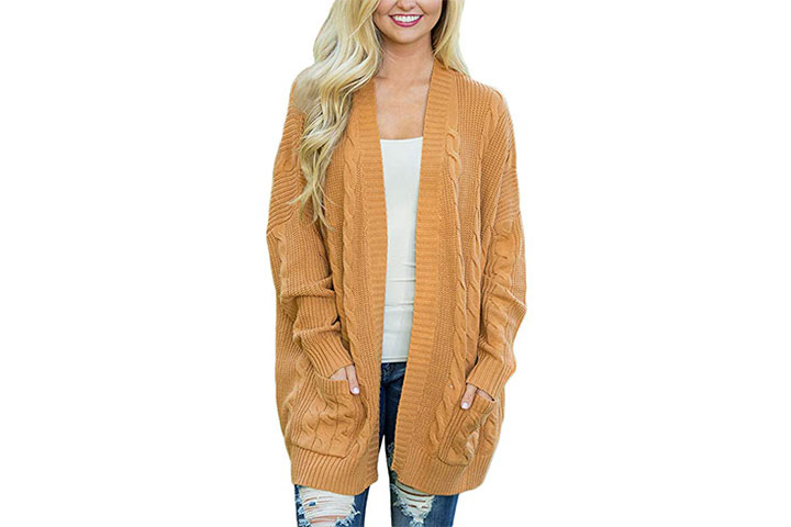 Dokotoo Womens Fashion Open Front Long Sleeve Cardigans Sweater