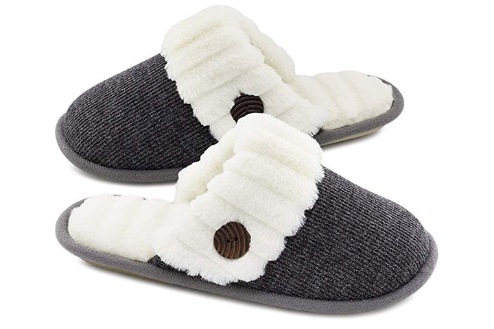 HomeTop fuzzy slip-on