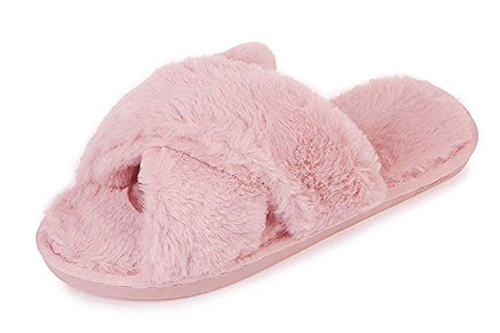 Humiwa faux fur slippers