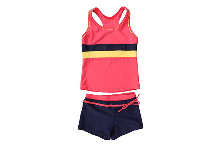 JerrisApparel Little Girls' Two Piece Swimsuit