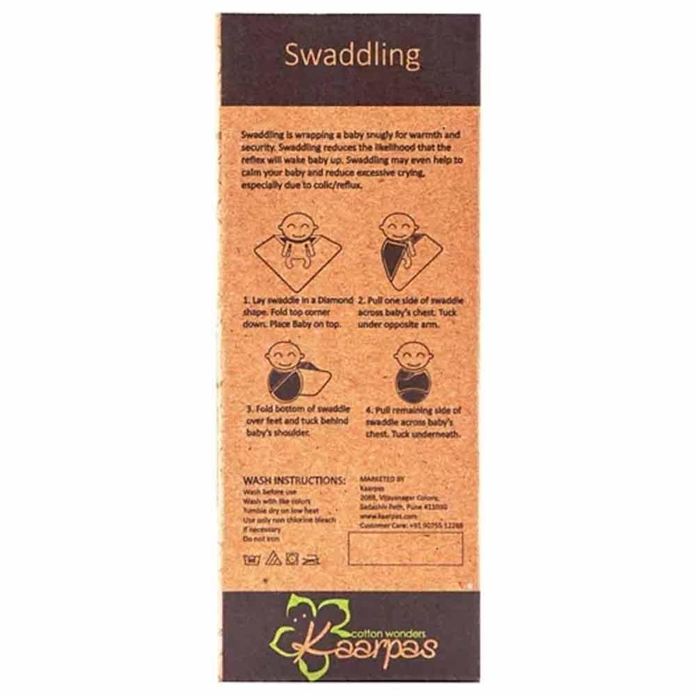 Kaarpas Premium Organic Cotton Muslin Baby Wrap Swaddle  Pack