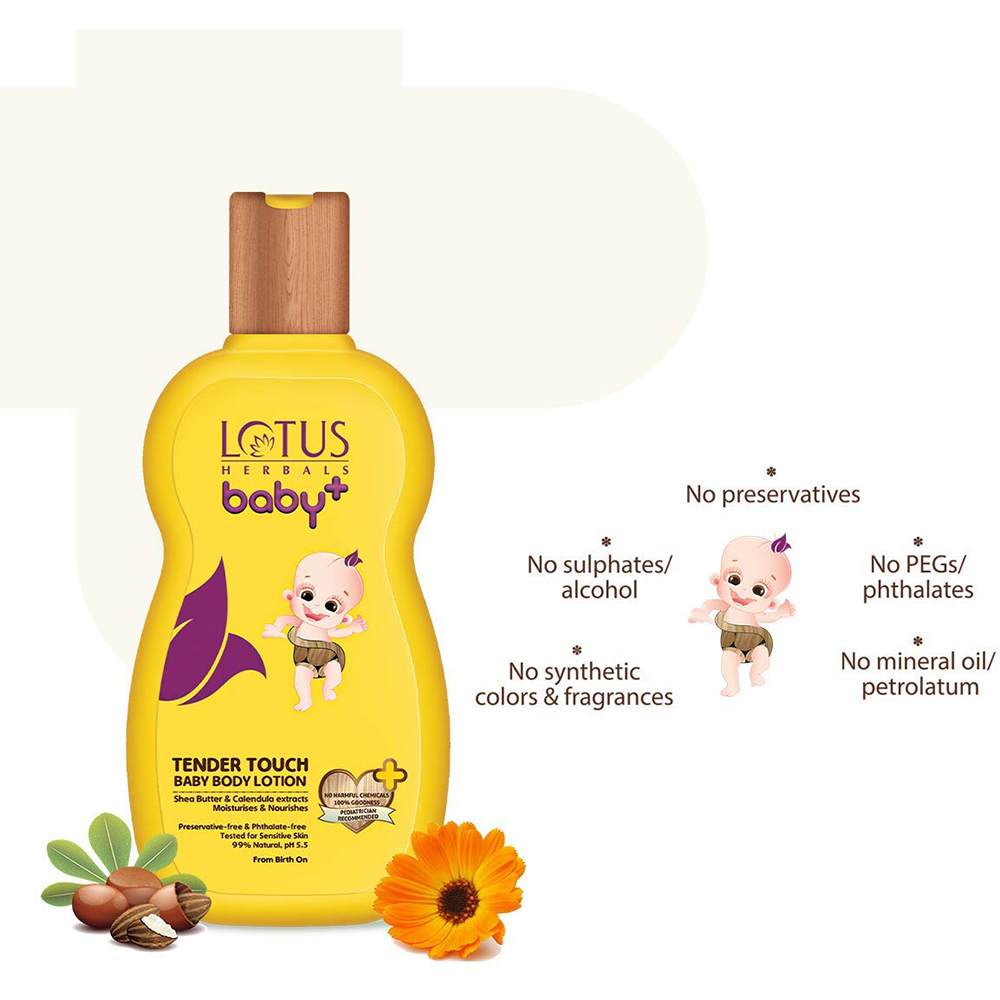Lotus Herbals baby+ Tender Touch Baby Body Lotion-1