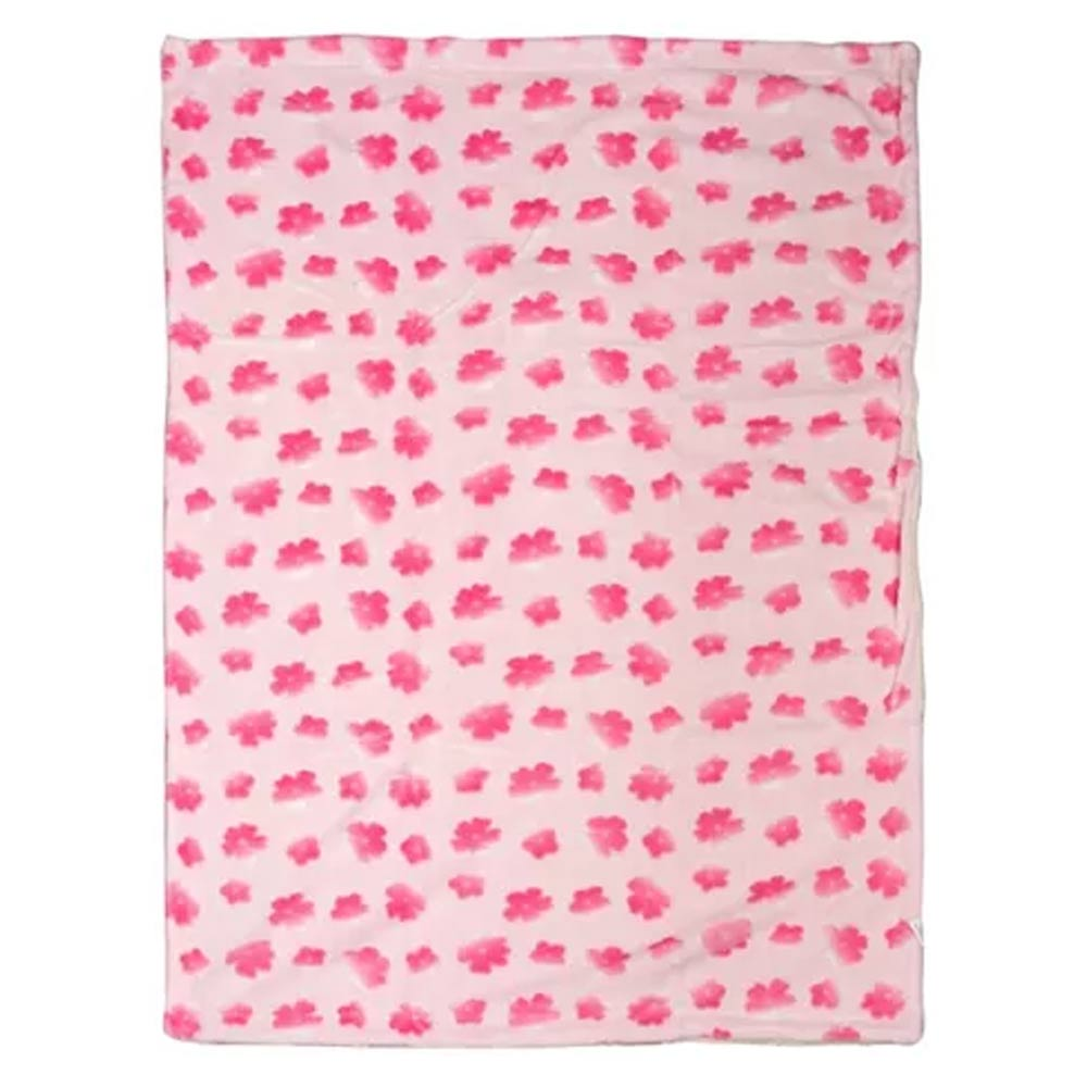 Mee Mee Double Layered Flannel Fabric Blanket With 3D Floral Print