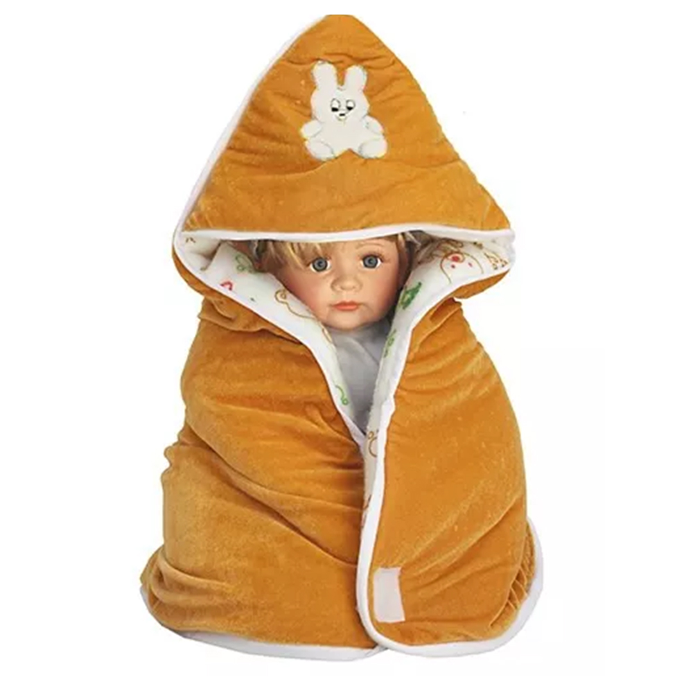 My NewBorn Hooded Wrapper Cum Fleece Blanket-0