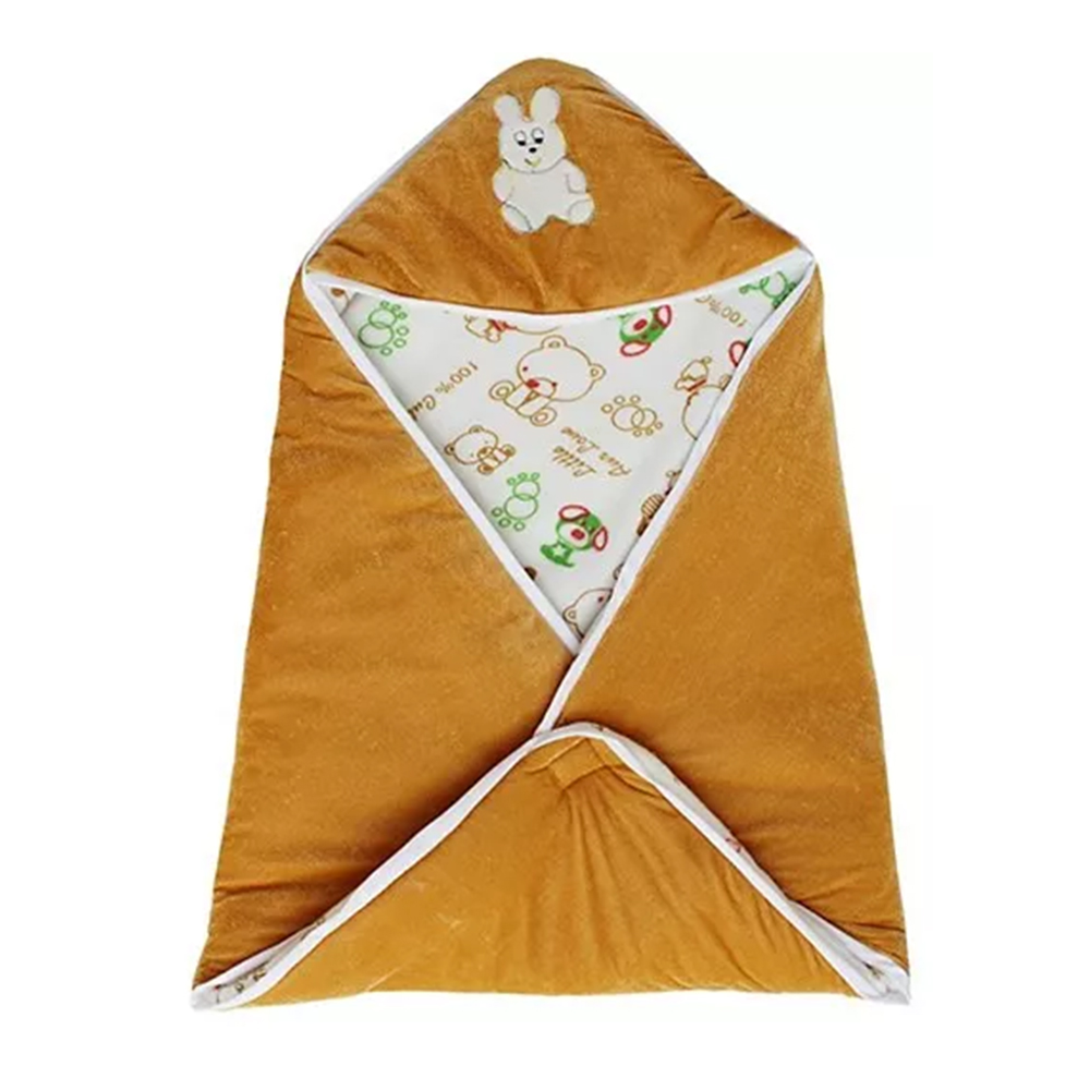 My NewBorn Hooded Wrapper Cum Fleece Blanket-1