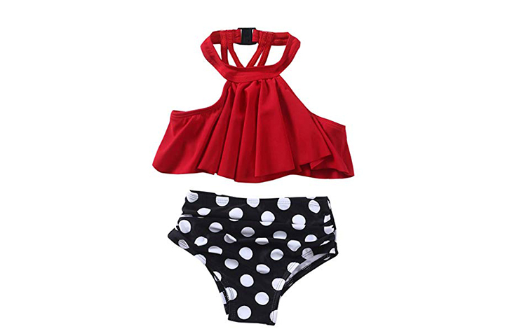 XUNYU Girls High Waisted Bikini Set Swimsuit