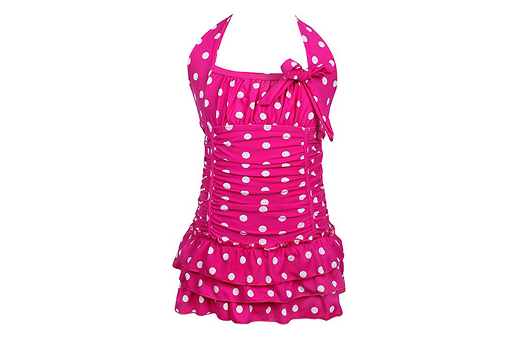 qyqkfly Girls Polka Dot Swimsuit