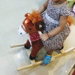 Toyshine Sunshine Horse Mini Wooden Rocker With Music and Light-Crazy horse ride-By siri_s