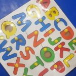 Little Genius - Wooden English Alphabet Uppercase With Knob-Learn as you Play-By mridula_k