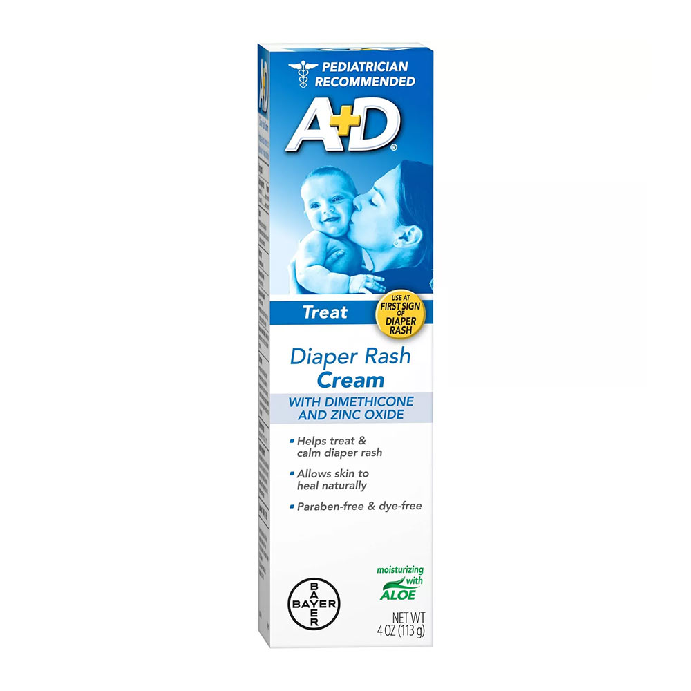 A+D Diaper Rash Cream, Dimethicone Zinc Oxide Cream