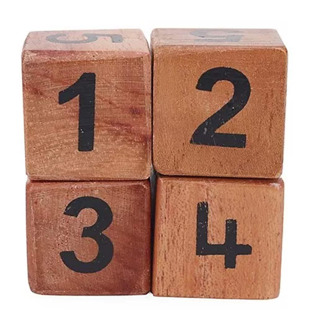 Alpaks Numeric Wooden Dice Pack