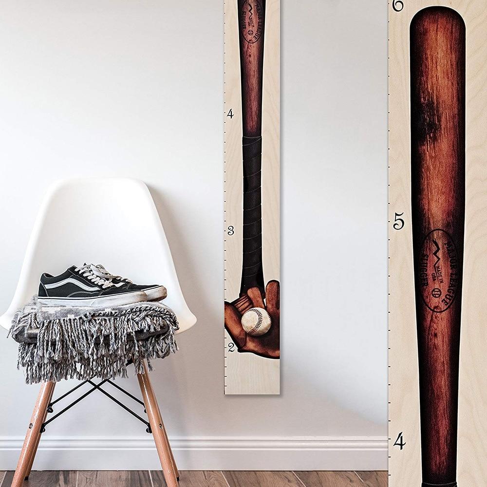 Antique Baseball Bat Wooden Height Chart