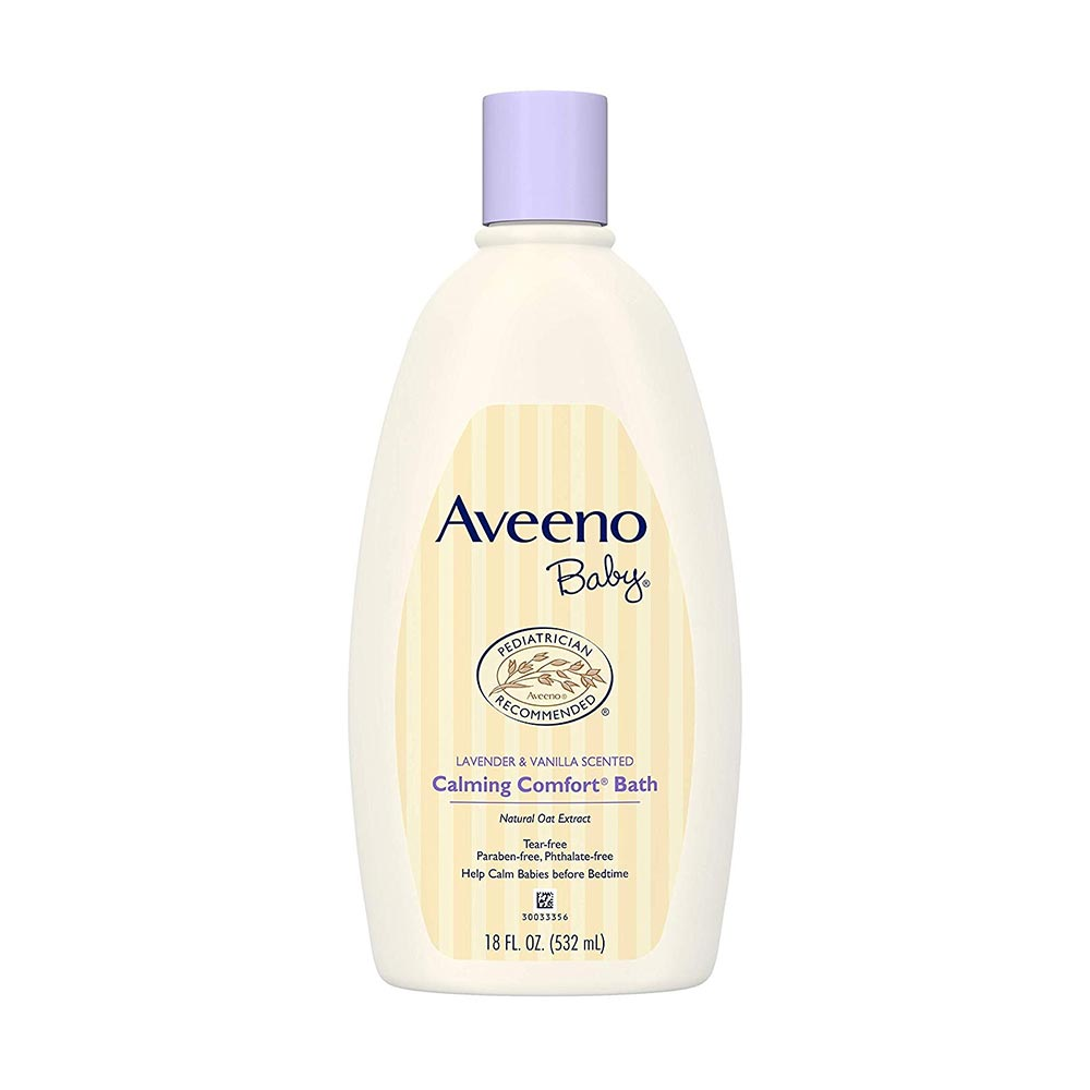 Aveeno Baby Calming Comfort Bath Lavender & Vanilla-0