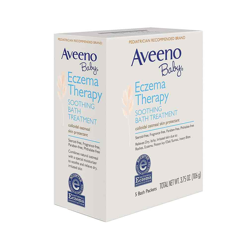 Aveeno Baby Soothing Bath Treatment Packets Eczema Therapy-4