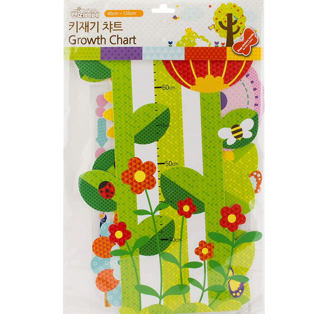 Babies Bloom Floral Growth Chart for Growing Babies