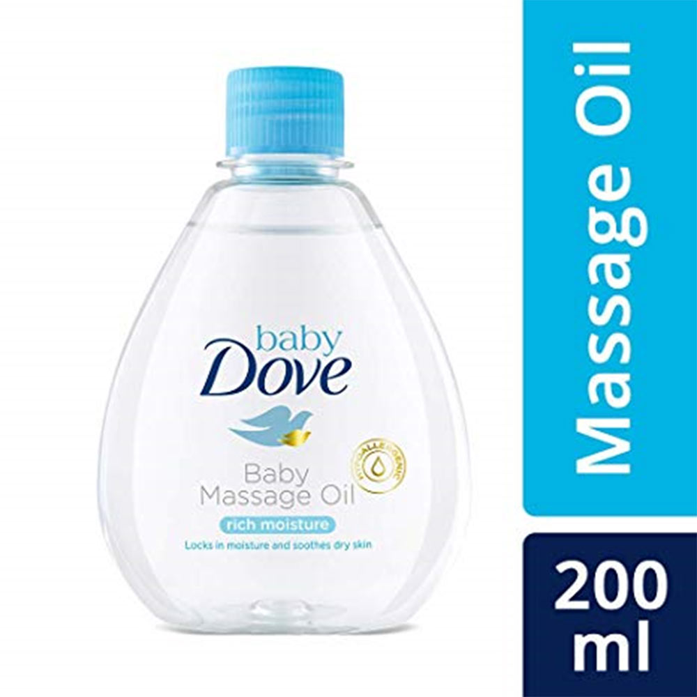Baby Dove Rich Moisture Massage Oil Hair to Toe