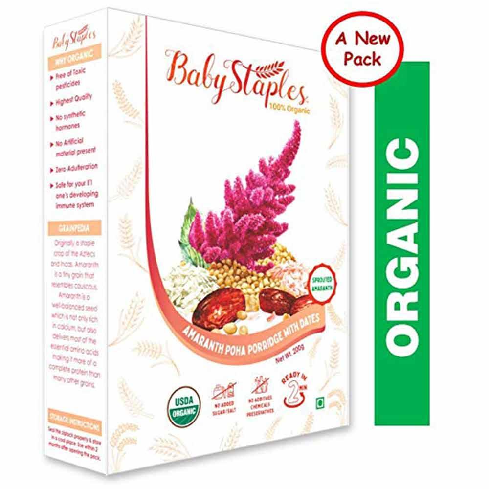 BabyStaples Amaranth Poha & Dates Porridge