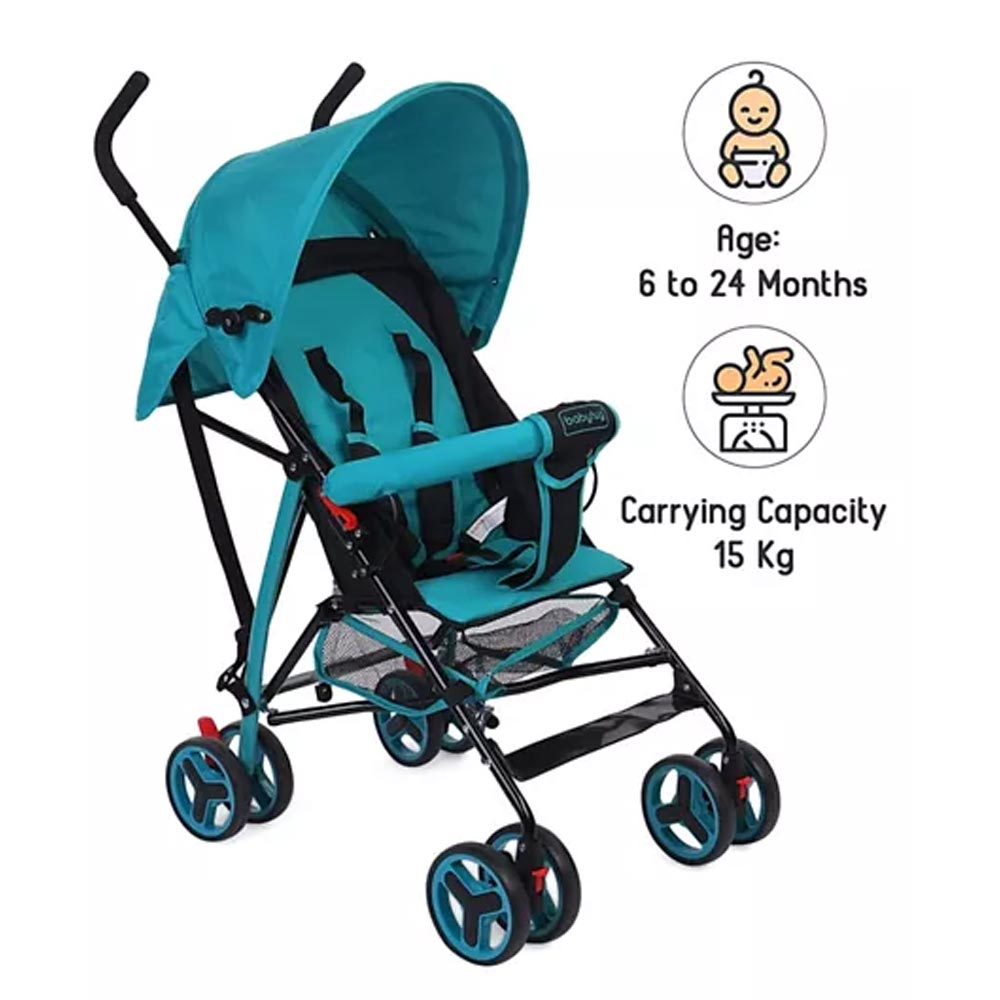 Babyhug Agile Baby Light Weight Stroller Buggy With Umbrella Fold