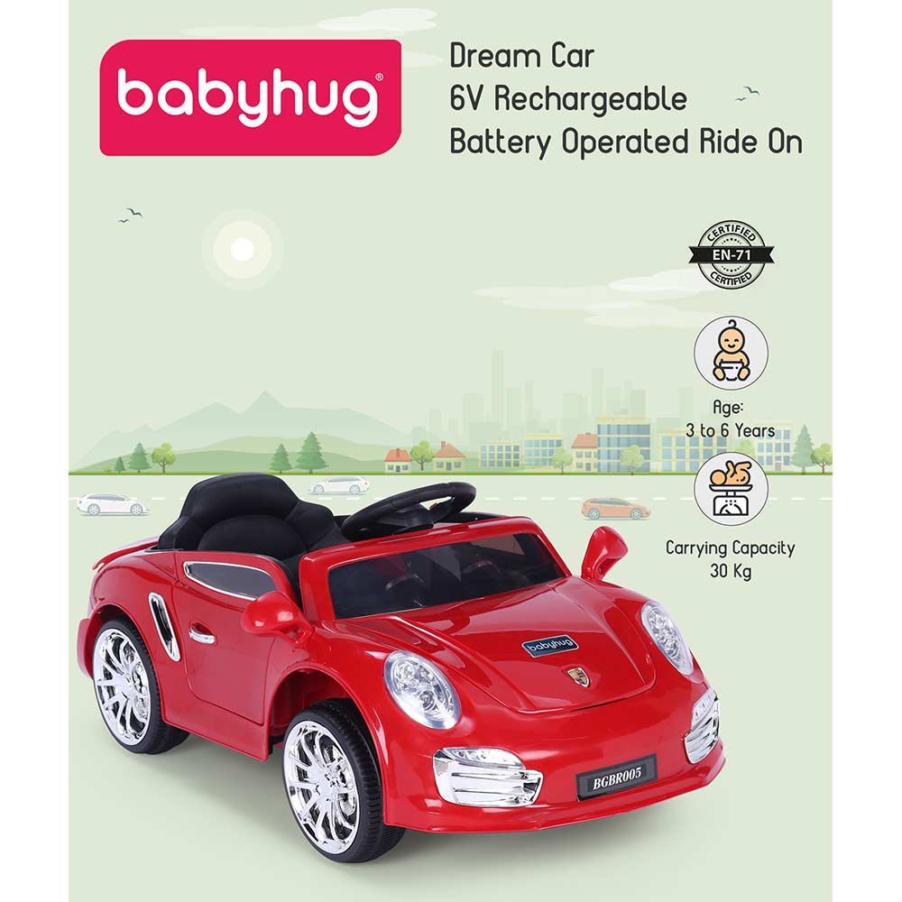 Babyhug Battery Operated Ride On With Remote Control & Safety Harness