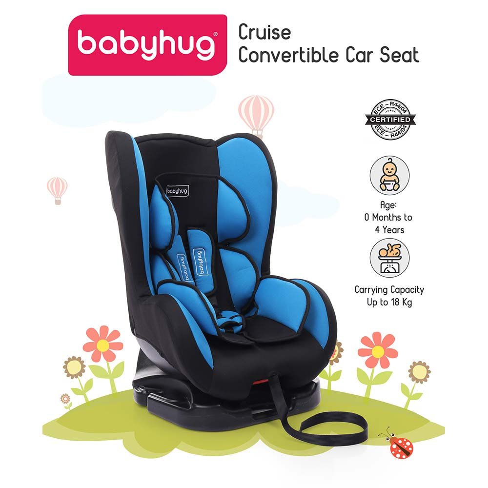 Babyhug Cruise Convertible Reclining Car Seat With Side Impact Protection-0