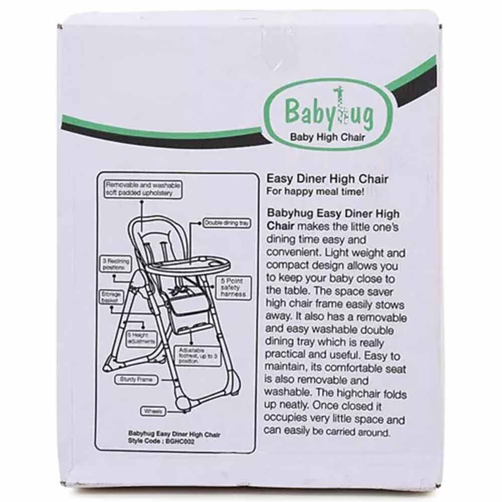 Babyhug Easy Diner High Chair With 5 Adjustable Heights & 3 Level Seat Recline-5
