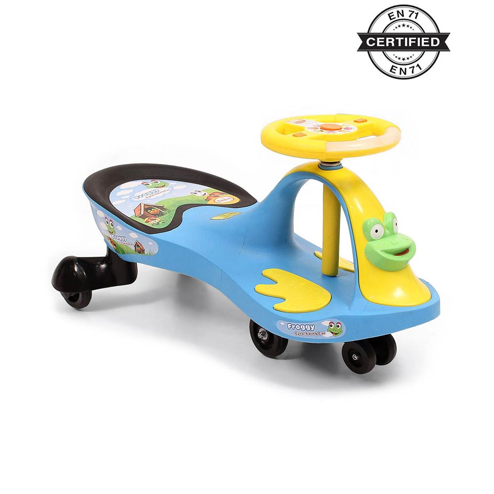 Babyhug Froggy Gyro Swing Car With Easy Steering Wheel-0