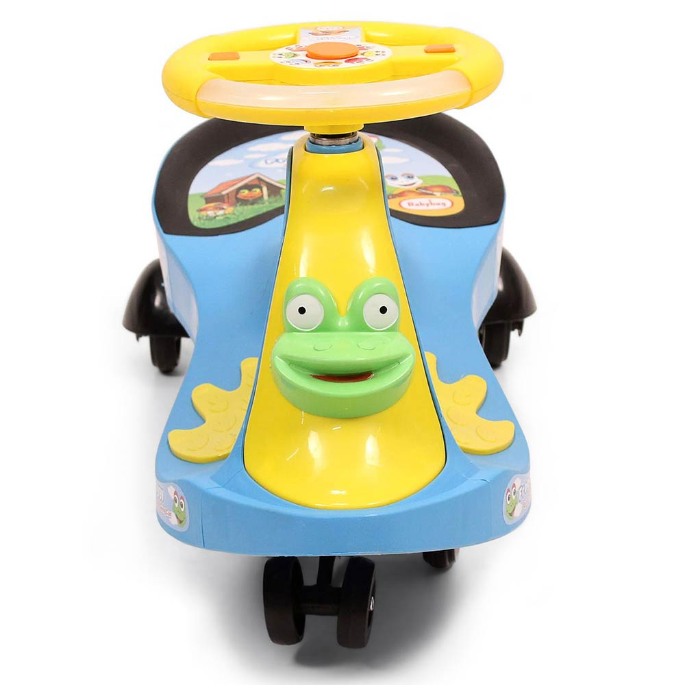 Babyhug Froggy Gyro Swing Car With Easy Steering Wheel-1