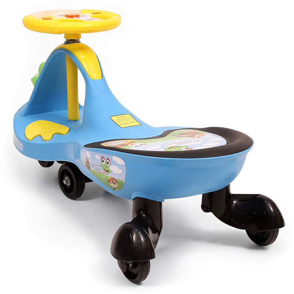 Babyhug Froggy Gyro Swing Car With Easy Steering Wheel-2