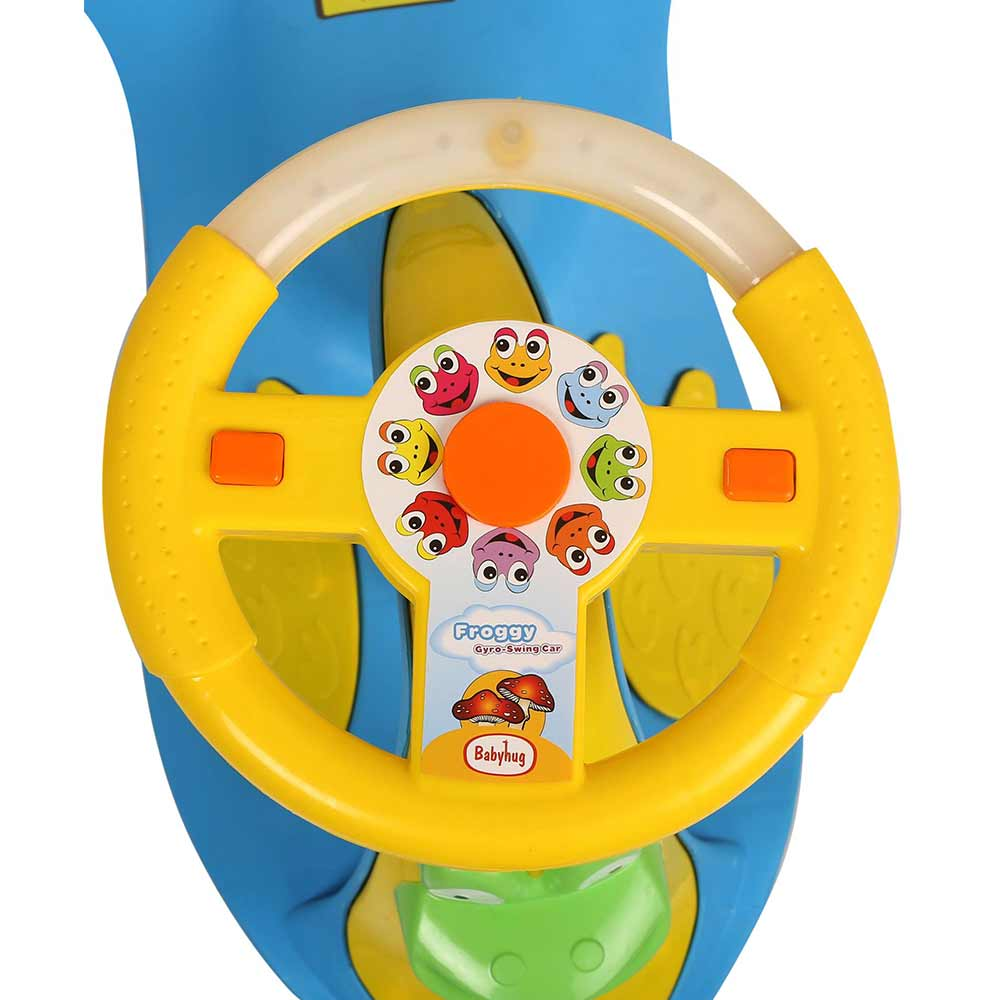Babyhug Froggy Gyro Swing Car With Easy Steering Wheel-3