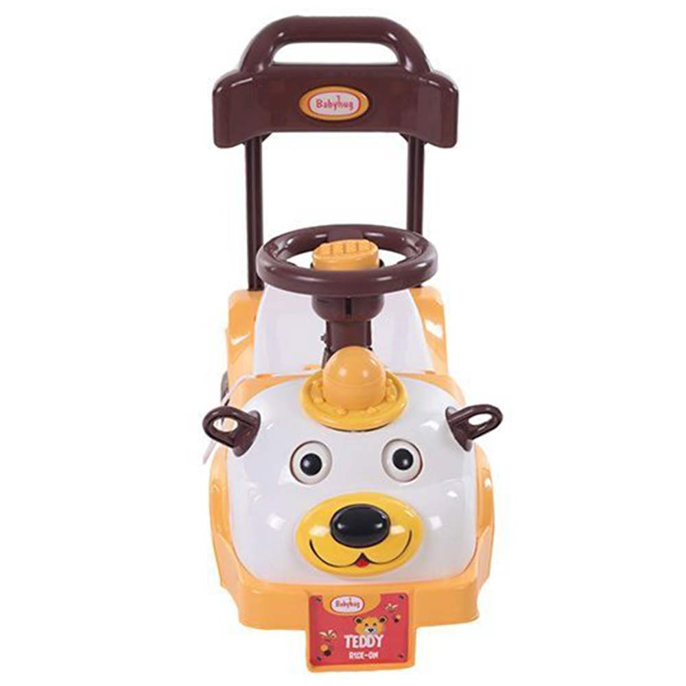 Babyhug Teddy Foot To Floor Ride-On With Steering Wheel & High Backrest