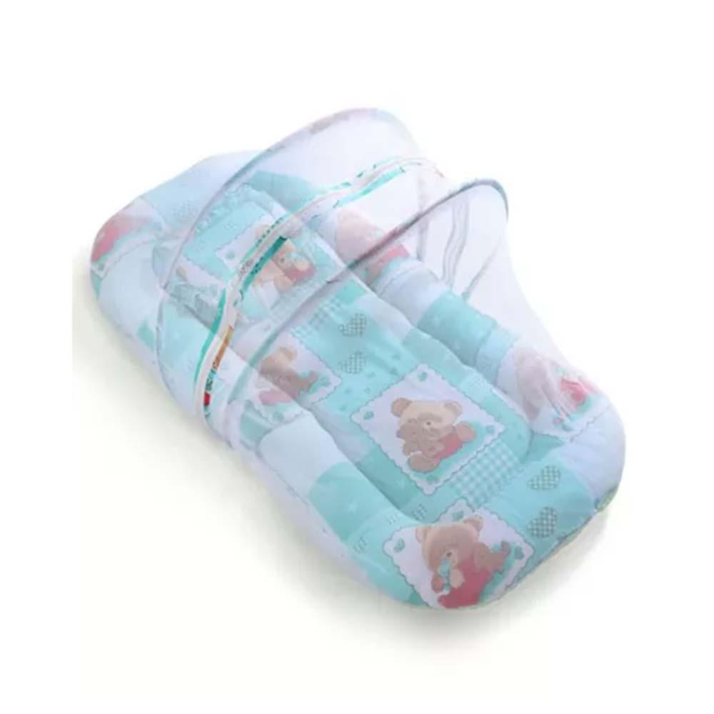 Babyhug Teddy Print Baby Bedding Set With Mosquito Net