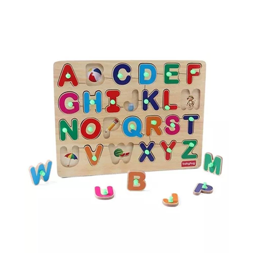 Babyhug Wooden Alphabet Puzzle
