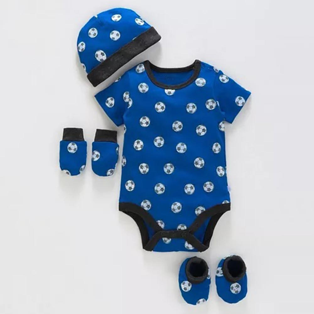 Babyoye Cotton Clothing Gift Football Print Set-0