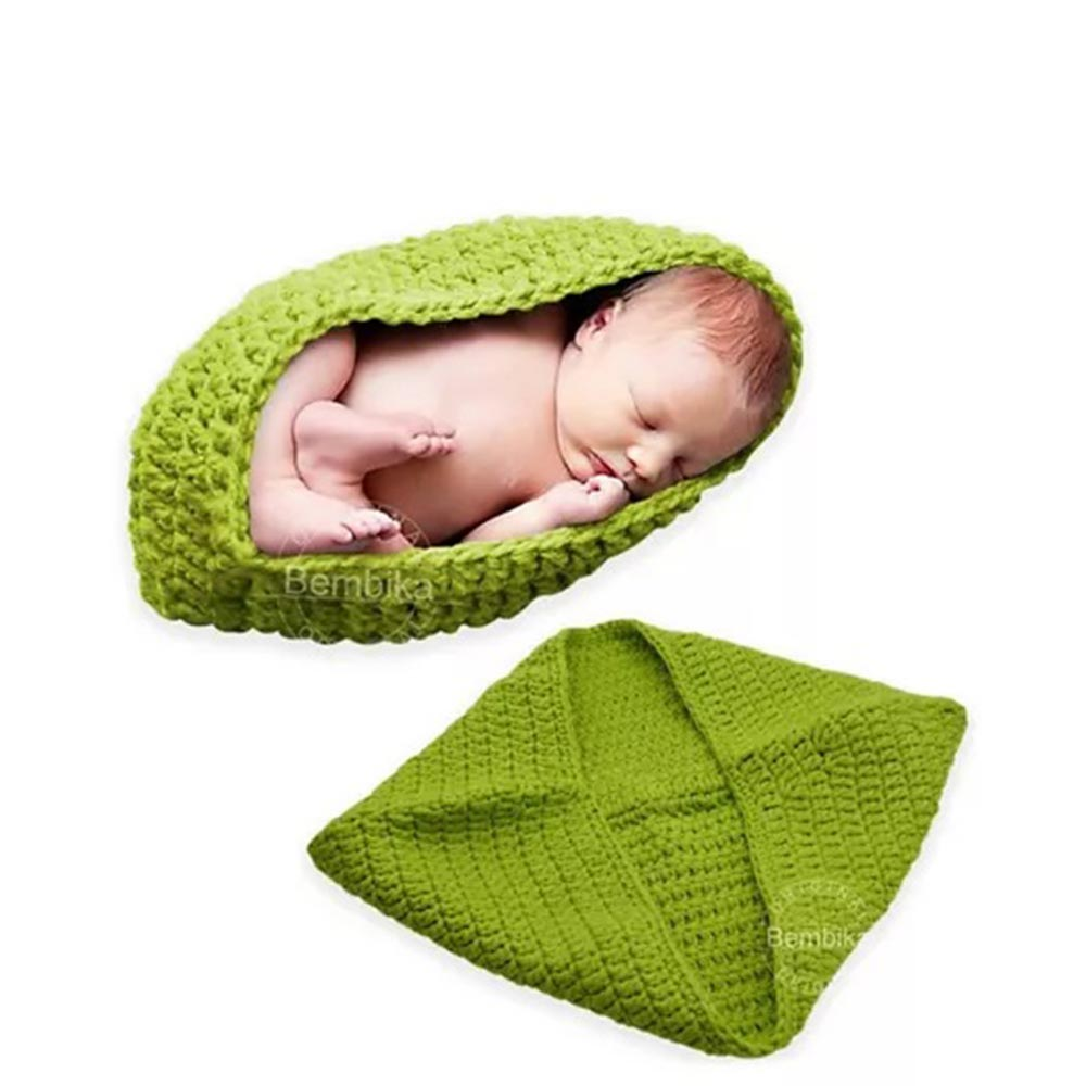 Bembika Knitted Cocoon Nest Baby Pod Photography Prop