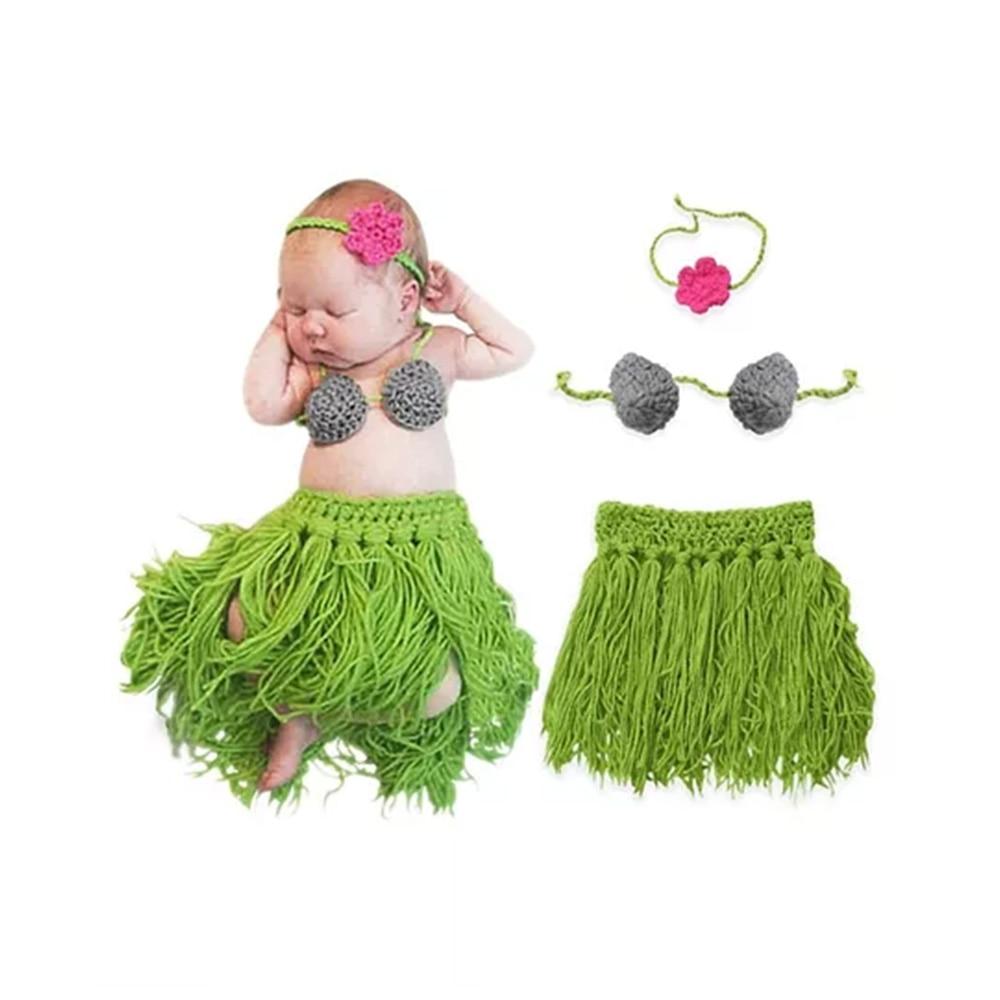 Bembika Knitted Fringe Dancer Baby Photography Prop Set