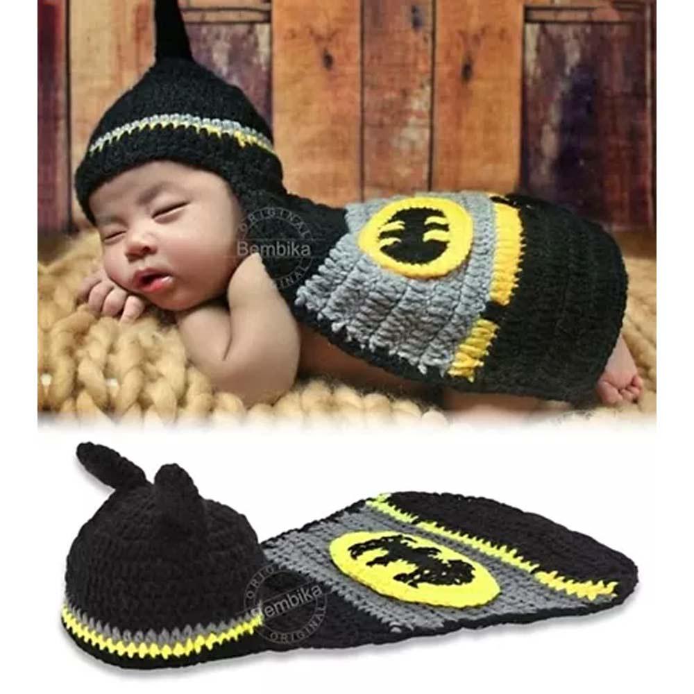 Bembika Newborn Lovely Knitted Crochet Batman Costume