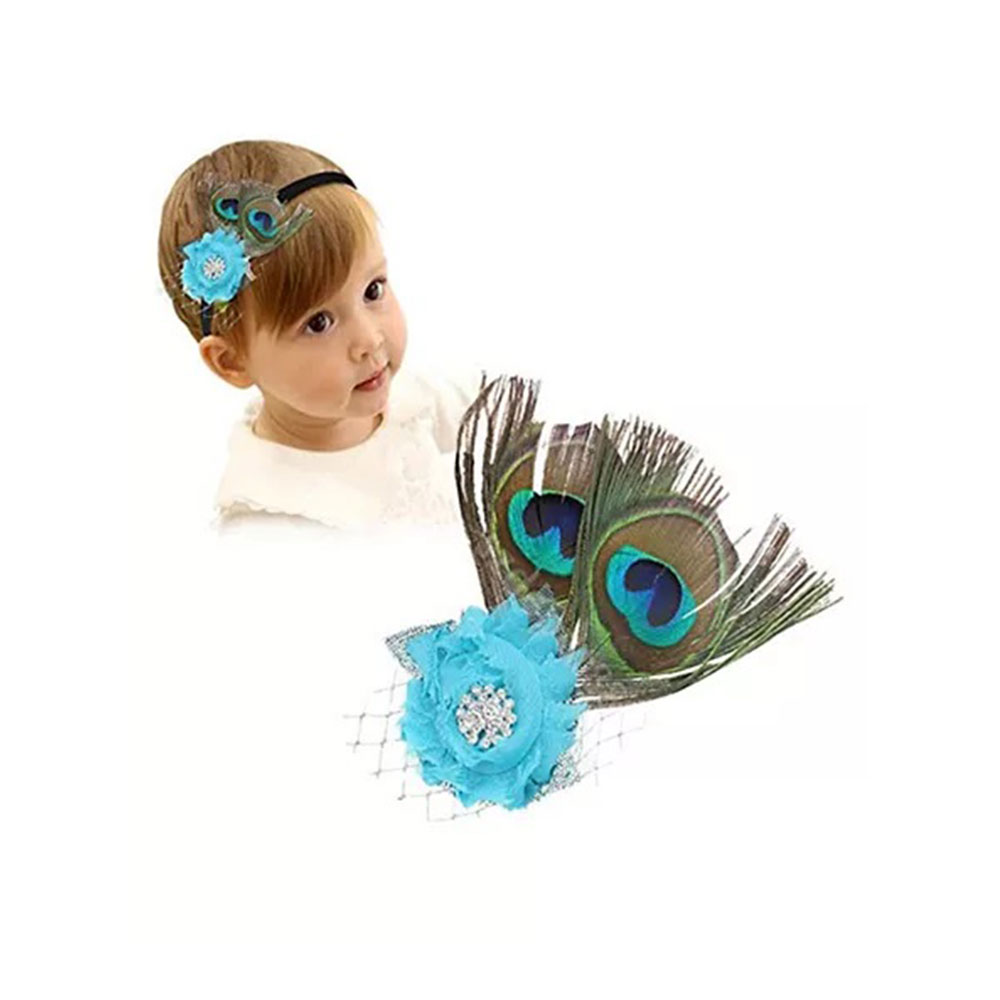 Bembika Peacock Feather Headband Photo Shoot Prop