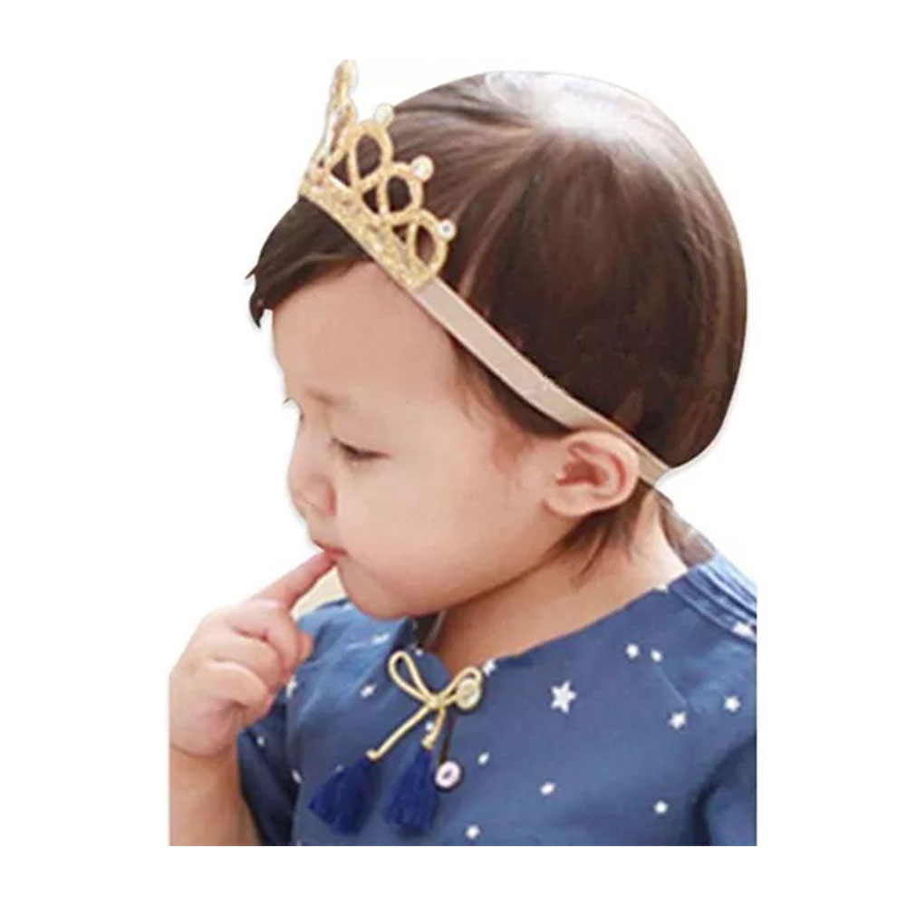 Bembika Rhinestone Tiara Crown